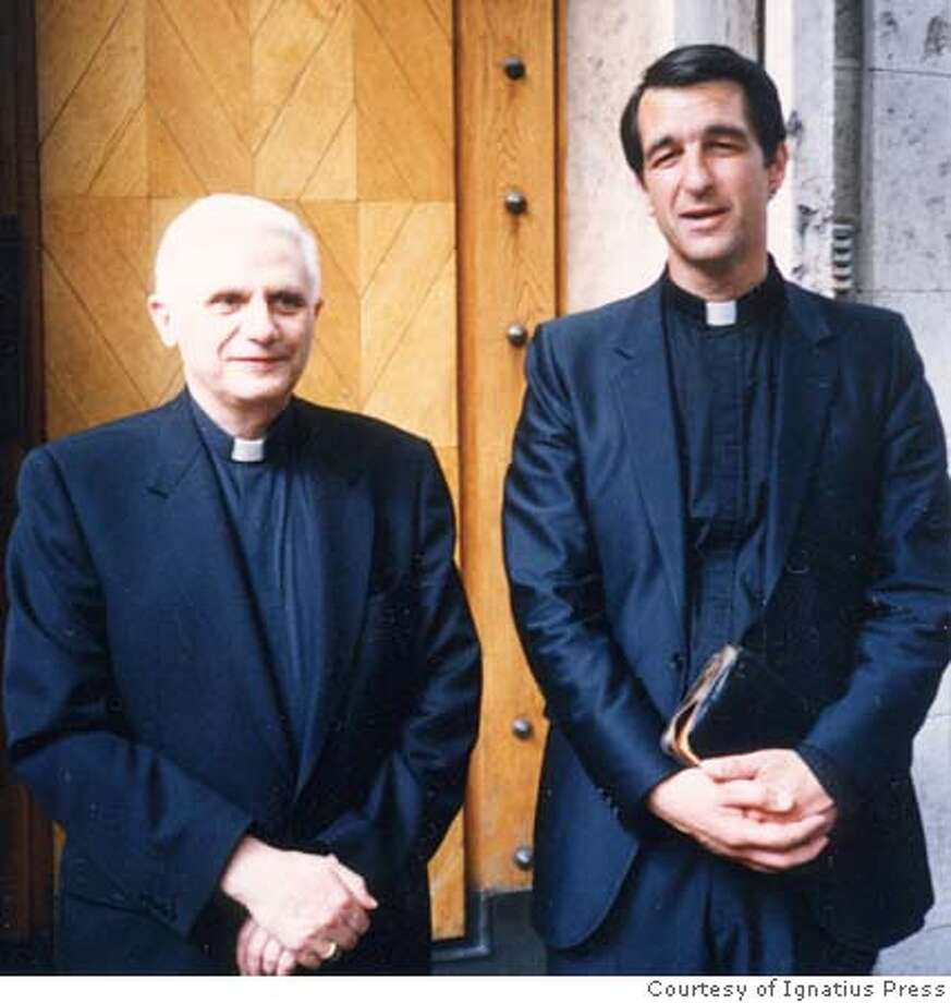 R-L: Photo of Father Joseph Fessio, S.J., (shown here with Ratzinger in 1999) Provost of Ave Maria University and Editor-in-Chief of Ignatius Press, is a longtime personal friend of Joseph Ratzinger, now Pope Benedict XVI. Photo: Courtesy of Ignatius Press Photo: Courtesy Of Ignatius Press