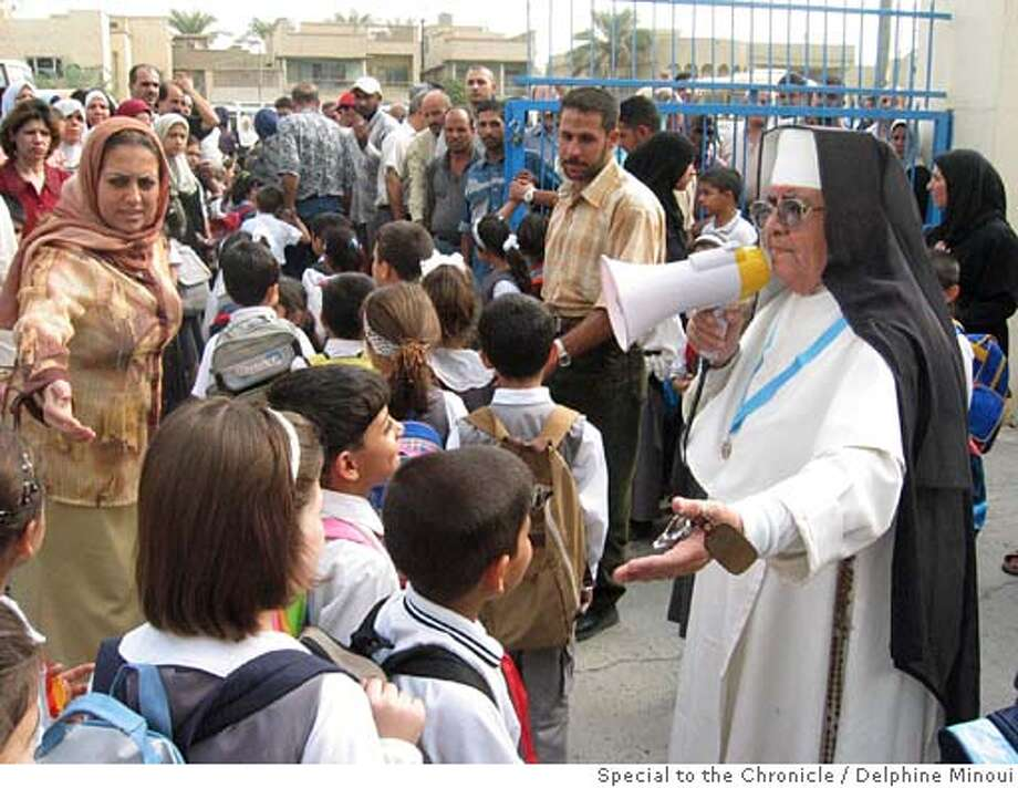Photo of Sister Beninia in Baghdad, Iraq. For: Photo: Delphine Minoui / Special To The