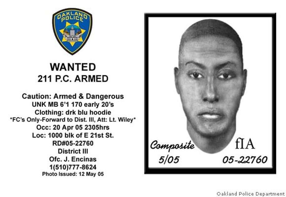 Sketch of one of three Lake Merritt robbery suspects. handout/ handout Photo: Handout