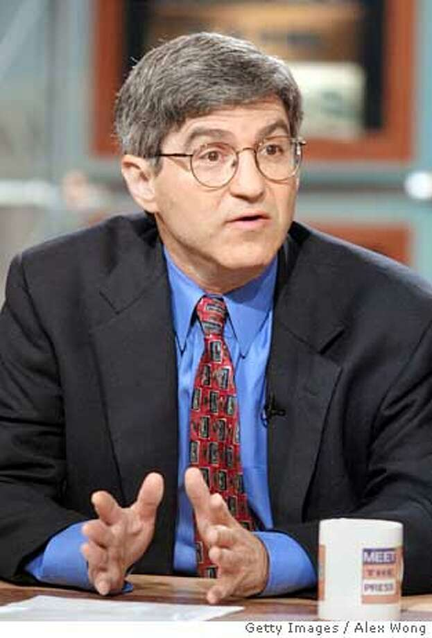 "WASHINGTON, DC - JULY 22: (FILE PHOTO) Michael Isikoff of Newsweek Magazine talks about missing former intern Chandra Levy's case July 22, 2001 on NBC's ""Meet the Press"" during a taping at the NBC studios in Washington, D.C. Newsweek writers Isikoff, along with John Barry, worked on the controversial story alledging that U.S. interrogators desecrated the Quran at the U.S. military detention center at Guantanamo Bay. The story has sparked outage from the Muslim world and Newsweek has retracted the story May 16, 2005, due to incorrect facts. (Photo by Alex Wong/Getty Images) *** Local Caption *** Michael Isikoff Ran on: 05-17-2005  Pakistani Shiite activists burn a mock U.S. flag in Peshawar, one of several centers of anti-American protests over Newsweek's report of desecration of the Muslim holy book. Ran on: 05-17-2005  Pakistani Shiite activists burn a mock U.S. flag in Peshawar, one of several centers of anti-American protests over Newsweek's report of desecration of the Muslim holy book. Ran on: 05-17-2005  Pakistani Shiite activists burn a mock U.S. flag in Peshawar, one of several centers of anti-American protests over Newsweek's report of desecration of the Muslim holy book. Photo: Alex Wong"