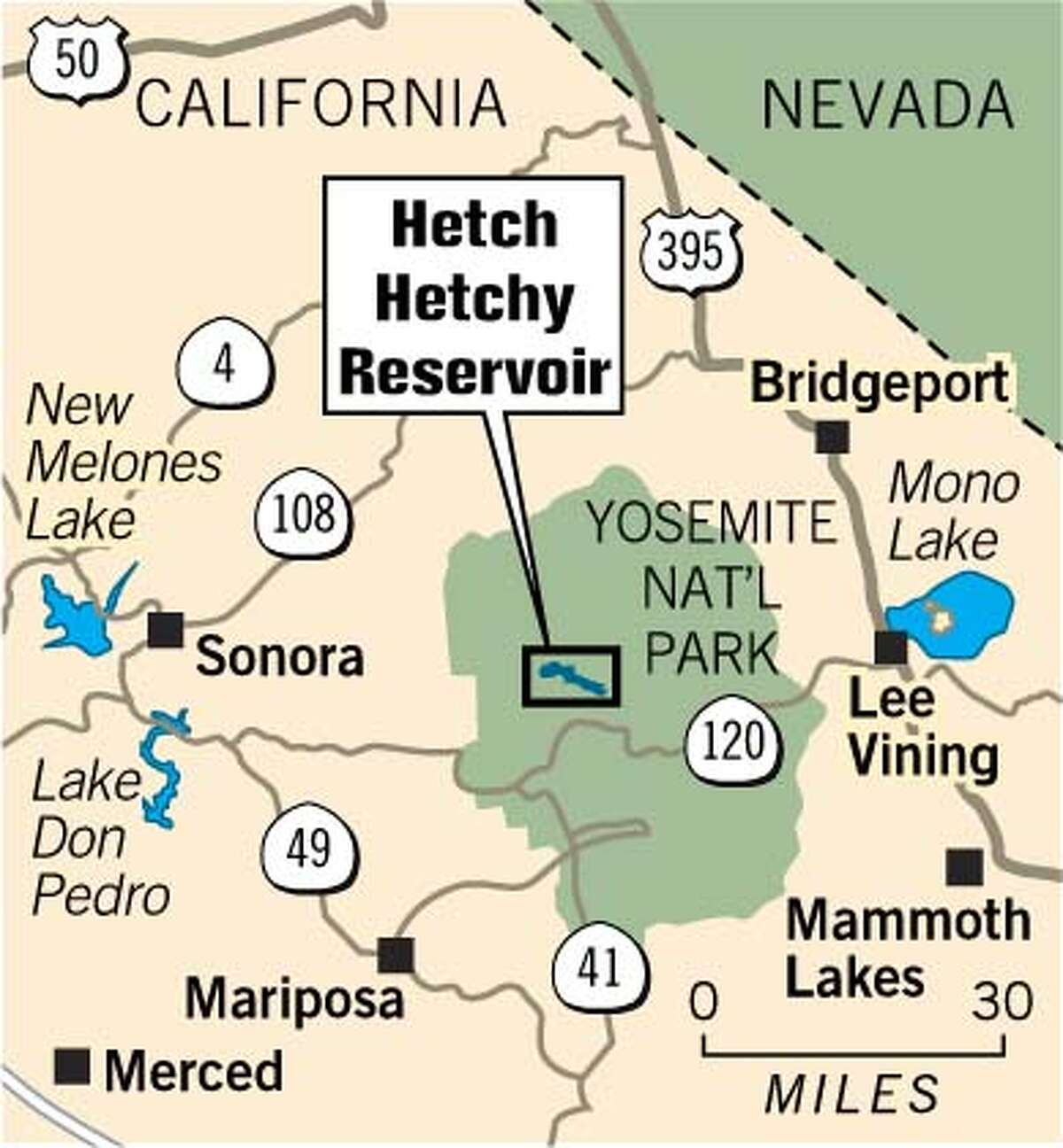 Hetch Hetchy Reservoir. Chronicle Graphic