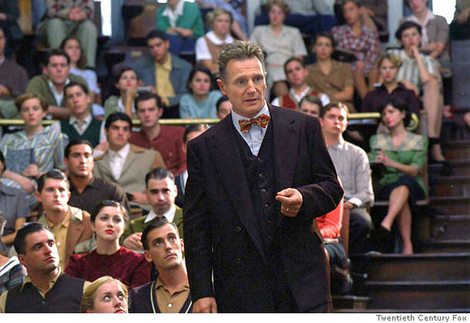 (NYT37) UNDATED -- NOVEMBER 8, 2004 -- NEESON-KINSEY-2 -- Liam Neeson as Alfred C. Kinsey during a lecture that resulted from his research on human sexuality at Indiana University, in the film �Kinsey.�� When Neeson was offered the chance to play Kinsey, � I didn�t have any hesitation,� he said in a recent interview.(Twentieth Century Fox via The New York Times) **ONLY FOR USE WITH STORY BY DINITIA SMITH SLUGGED: NEESON-KINSEY. ALL OTHER USE PROHIBITED. Ran on: 11-15-2004  Good bets: Jamie Foxx in &quo;Ray,&quo; Annette Bening in &quo;Being Julia&quo; and Leonardo DiCaprio in &quo;The Aviator.'' Ran on: 11-22-2004  Alfred Kinsey, the subject of a new film and novel, continues to inspire and confound, nearly a half-century after his death. XNYZ, **ONLY FOR USE WITH STORY BY DINITIA SMITH SLUGGED: NEESON-KINSEY. ALL OTHER USE PROHIBITED. Photo: TWENTIETH CENTURY FOX
