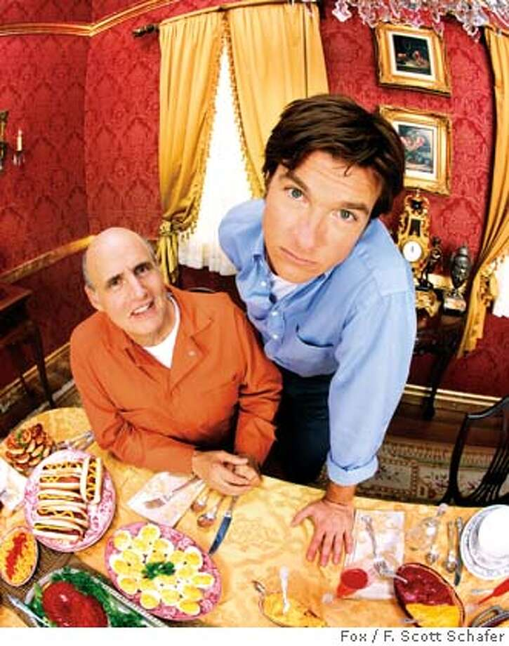 ARRESTED DEVELOPMENT: Jason Bateman as Michael Bluth and Jeffrey Tambor as George Bluth, Sr. in ARRESTED DEVELOPMENT premiering Sunday, November 2 (9:30-10:00 PM ET/PT) on FOX. ��2003 FOX BROADCASTING CO. Cr: F. Scott Schafer/FOX.
