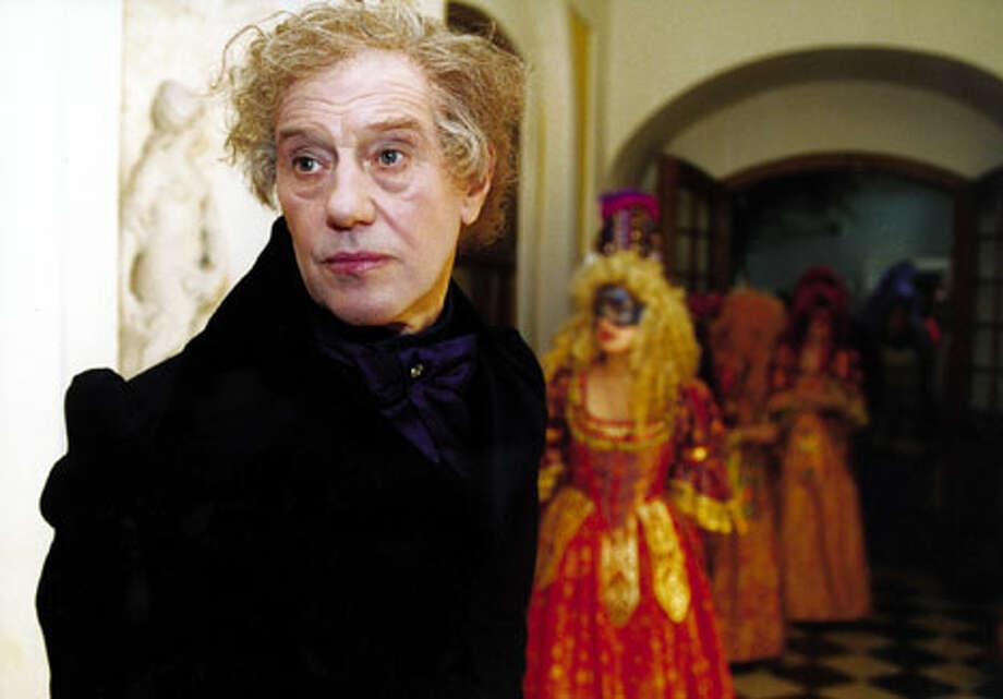 "Sergei Dreiden plays a 19th century European diplomat roaming the halls of the Hermitage in ""Russian Ark."""