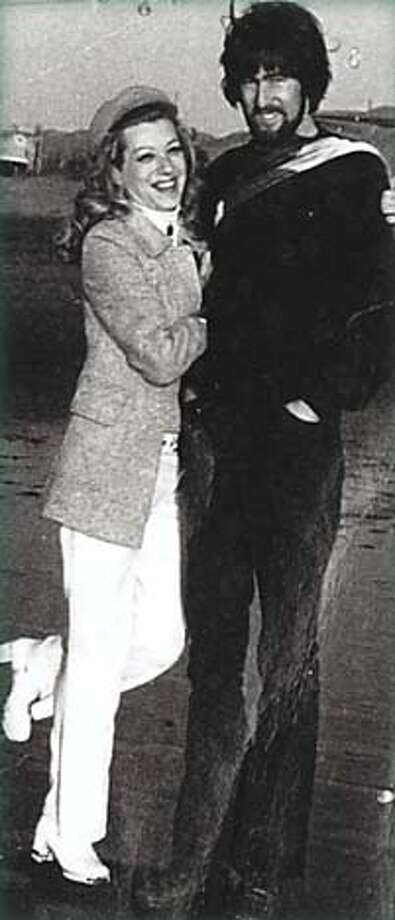 """Michael Corrigan with his mother, Fran, near the Cliff House. Photo from """"Confessions of a Shanty Irishman"""""""