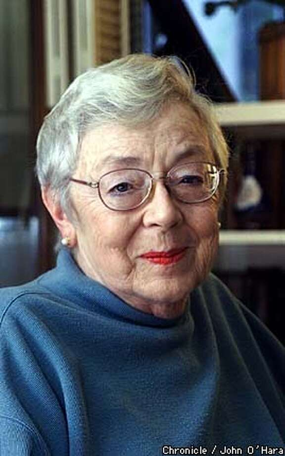 "Piedmont, Ca.  Joan Zuber Earle, survivor of Pearl Habor and author. The Childern of Battleship Row""  Photo/John O'hara Photo: John O'hara"