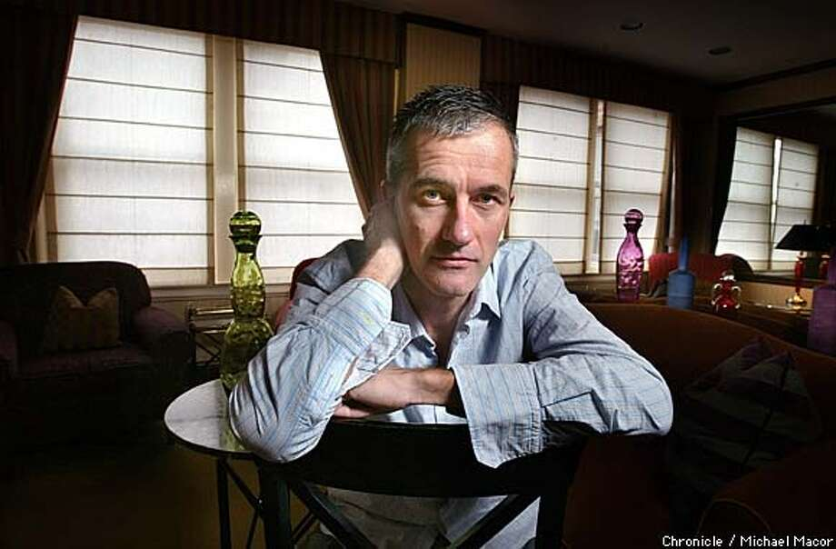 "British author Geoff Dyer has published his latest work, a book entitled, ""Yoga For Peopole Who Can't Be Bothered To Do It"". by Michael Macor/The Chronicle Photo: MICHAEL MACOR"