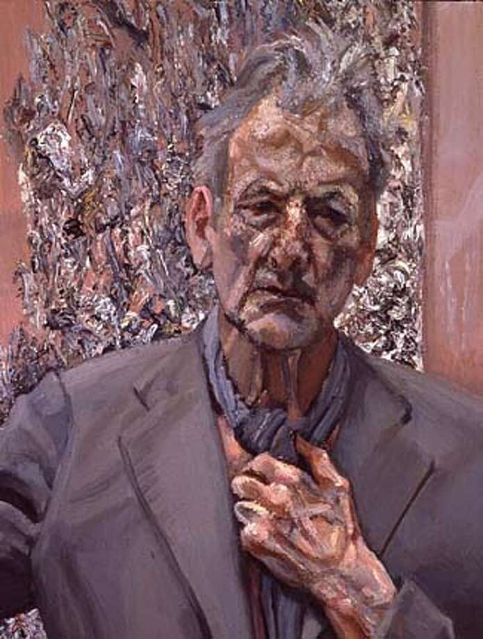 "Lucian Freud  Self-Portrait, Reflection, 2002  Oil on canvas, 26 x 20 inches  Private Collection  � Lucian Freud  ""Lucian Freud""  February 9 through May 25, 2003  MOCA at California Plaza HANDOUT PHOTO/VERIFY RIGHTS AND USEAGE Photo: HANDOUT"