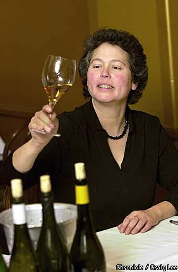 Barbara Haims of Cafe Rouge in Berkeley, doing some wine tasting.  Photo by Craig Lee/San Francisco Chronicle Photo: CRAIG LEE