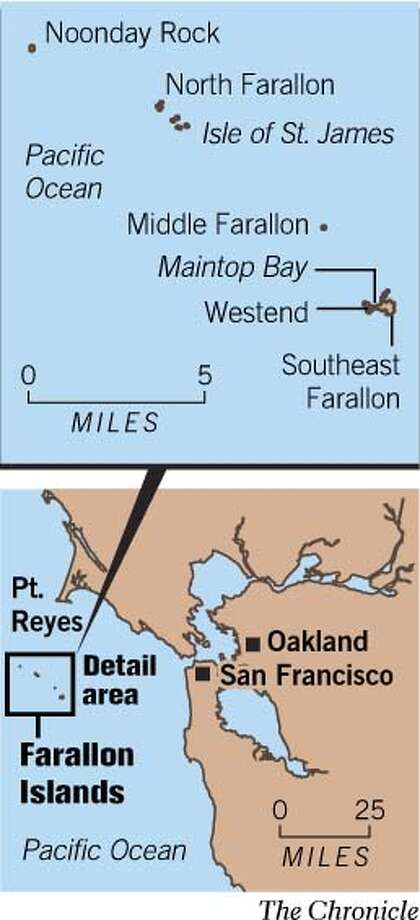 Farallon Islands. Chronicle Graphic