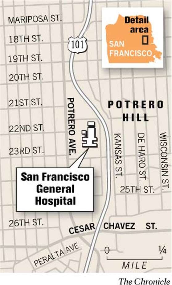 San Francisco General Hospital. Chronicle Graphic