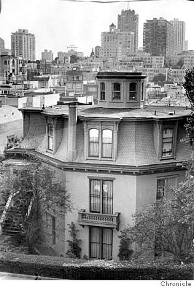 The Octagon House at 1067 Green Street photographed in 1970,