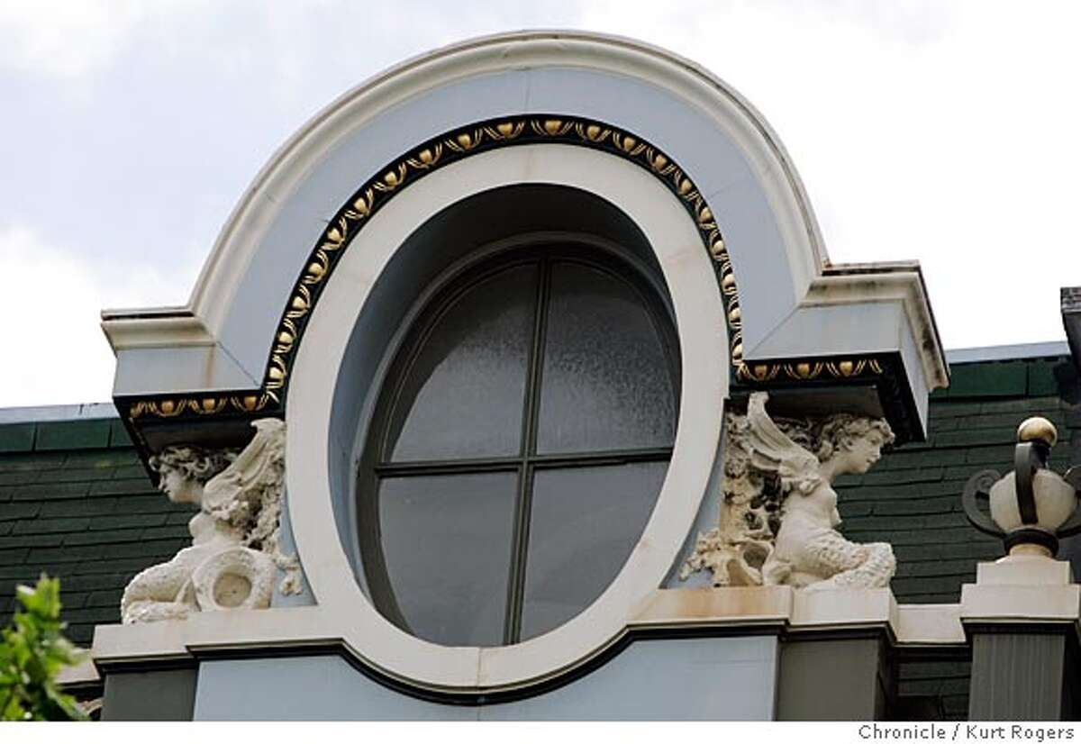 1347 McAllister, French revival building. Exterior shots would be in order: Overall fa�ade, detail of bearded man�s head in the lower cornice, Art Nouveau canopy over doorway. 4/13/05 in San Francisco,CA. KURT ROGERS/THE CHRONICLE