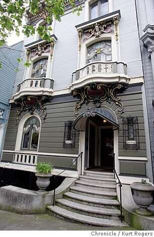 1347 McAllister, French revival building. Exterior shots would be in order: Overall fa�ade, detail of bearded man�s head in the lower cornice, Art Nouveau canopy over doorway. 4/13/05 in San Francisco,CA.  KURT ROGERS/THE CHRONICLE Photo: KURT ROGERS