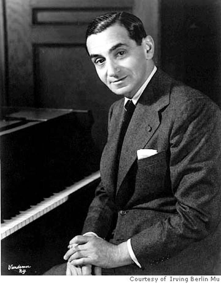 Photo of Irving Berlin for the upcoming article WHITE CHRISTMAS. Datebook#Datebook#Chronicle#11/19/2004#ALL#Advance##0422425091 Photo: Courtesy Of The Irving Berlin Mu