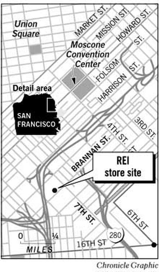 REI Store Site. Chronicle Graphic