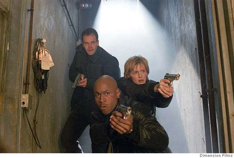 "In this photo provided by Dimension Films, (Clockwise from top left) Jonny Lee Miller, Kathryn Morris and LL Cool J as FBI agents training as profilers used to track down serial killers in ""Mindhunters."" (  Dimension Films)"