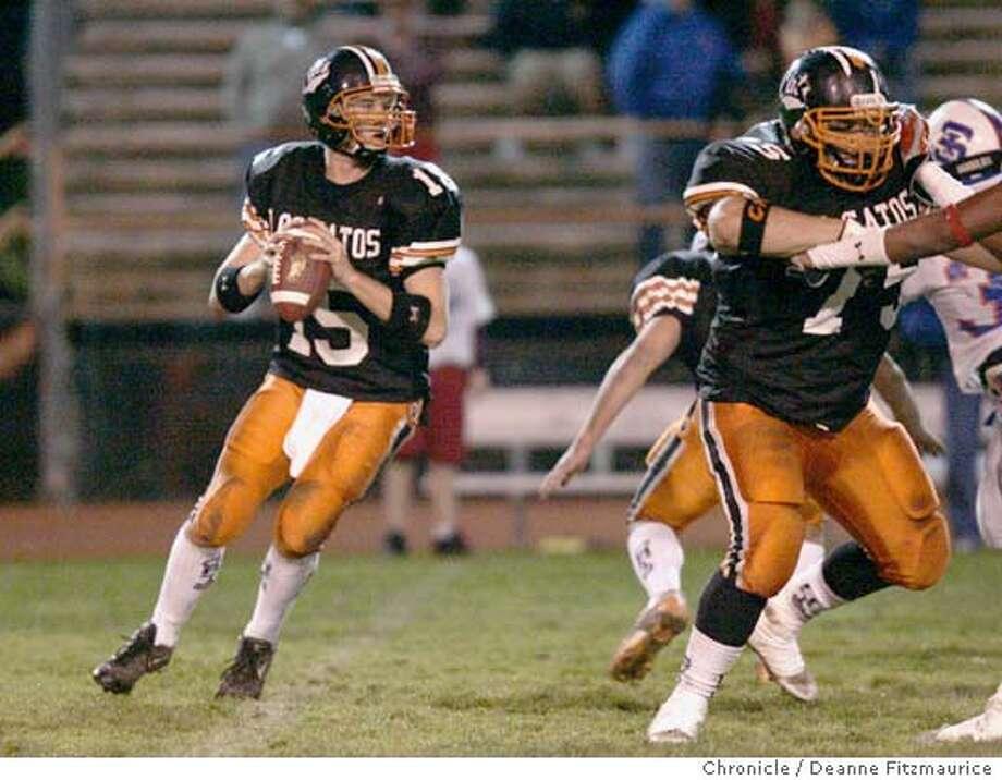 Eric Rollin, quarterback for Los Gatos H.S. Los Gatos High School vs St Ignatius at Los Gatos High School.  Deanne Fitzmaurice / The Chronicle Photo: Deanne Fitzmaurice
