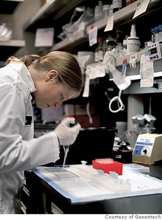 Genentech researcher. Photo: Courtesy of Genentech Photo: Courtesy Of Genentech