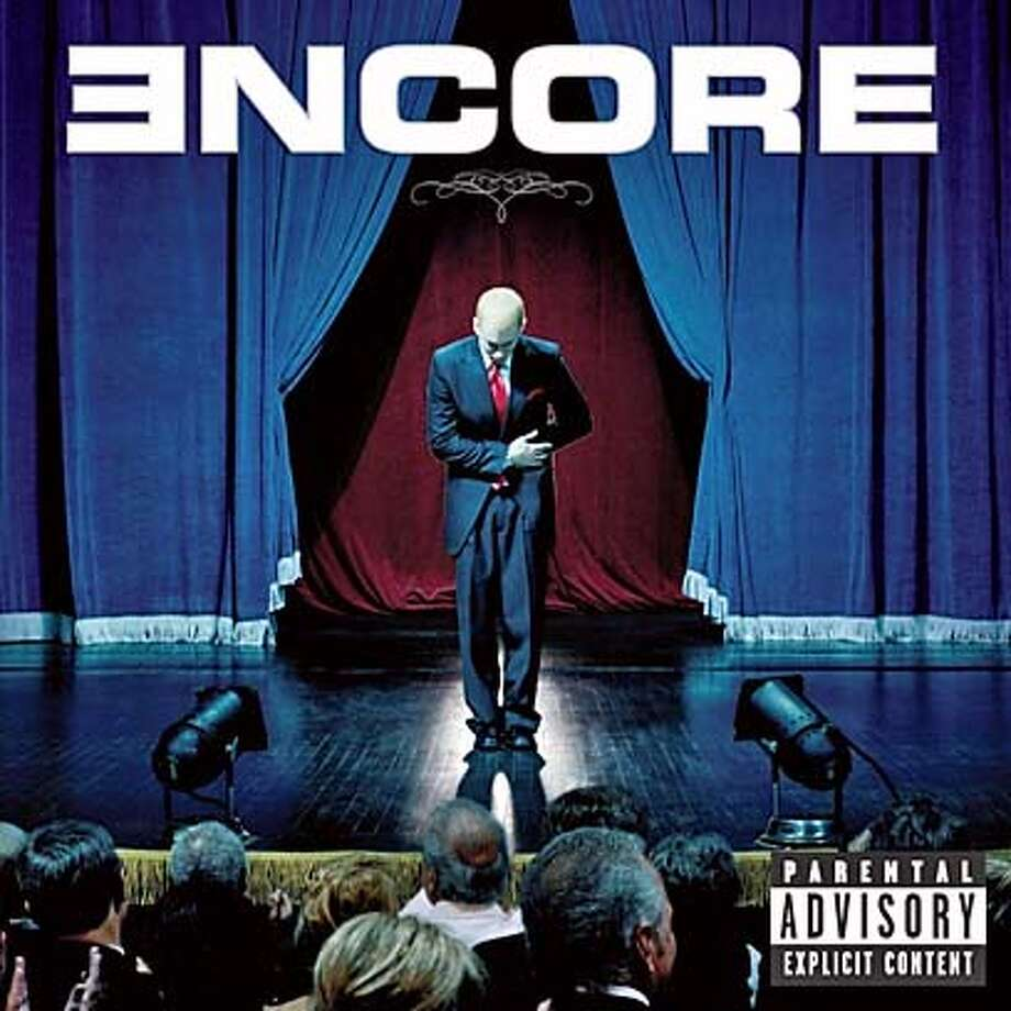 "The cover of the new album by rap singer Eminem titled ""Encore"" is shown in this undated publicity photograph. The album's release date has been changed to November 12, 2004 allegedly because of concerns about Internet piracy. REUTERS/Interscope/Geffen Records/Handout 0 Datebook#Datebook#Chronicle#11/15/2004#ALL#Advance##0422460661 Photo: HO"