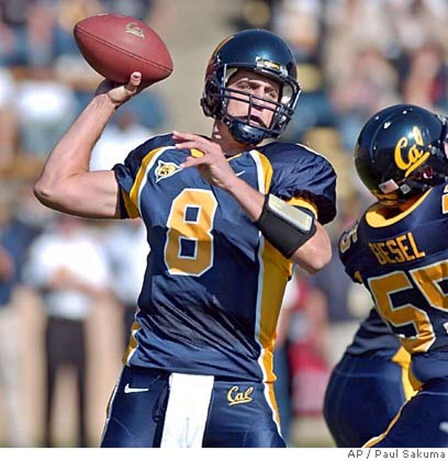California quarterback Aaron Rodgers passes against Oregon in the first quarter, Saturday, Nov. 6, 2005 in Berkeley, Calif. (AP Photo/Paul Sakuma) Sports#Sports#Chronicle#11/15/2004#ALL#5star##0422454303 Photo: PAUL SAKUMA