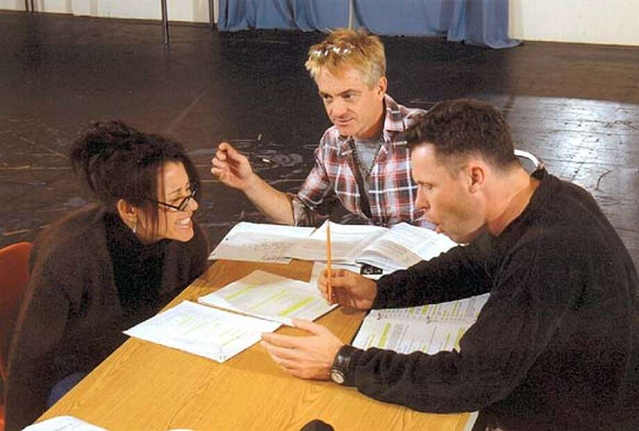 The Pavilion Cast in rehearsal - Deborah Taylor as Kari and John Flanagan as Peter, with Director Danny Scheie. The role of the Narrator is played by Joan Mankin. HANDOUT PHOTO/VERIFY RIGHTS AND USEAGE Photo: HANDOUT
