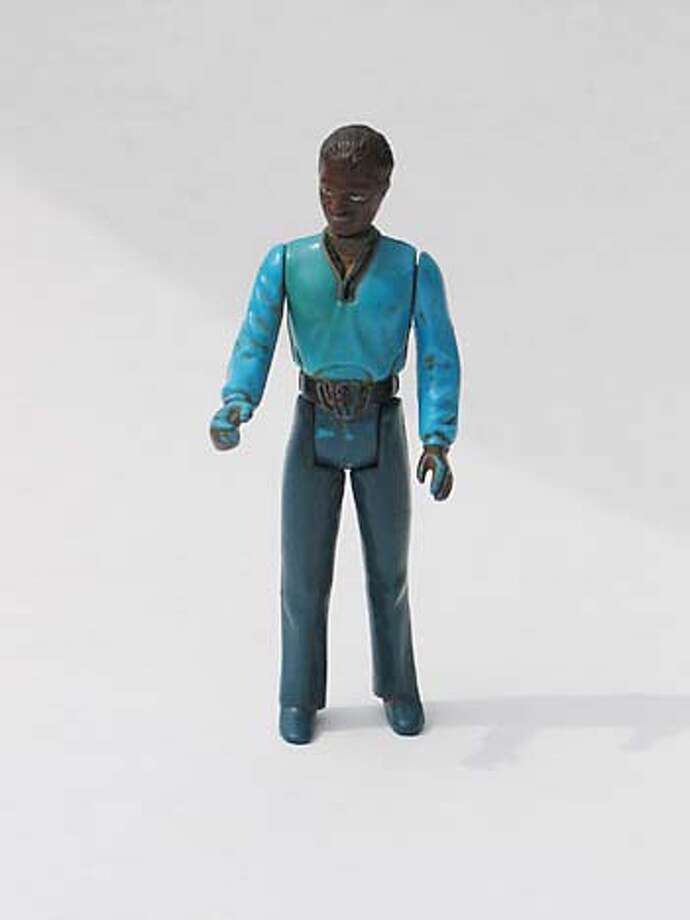 Star Wars action figure Lando Calrissian from Empire Strikes Back. For Delfin Vigil's story in Pink, 05-08-05