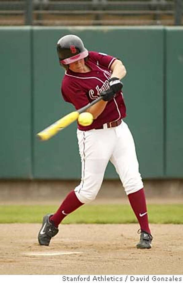 Photo of Michelle Smith, Stanford softball infielder, 2005. Photo by David Gonzales/Stanford Athletics Photo credit mandatory: David Gonzales Photo: David Gonzales/Stanford Athletic