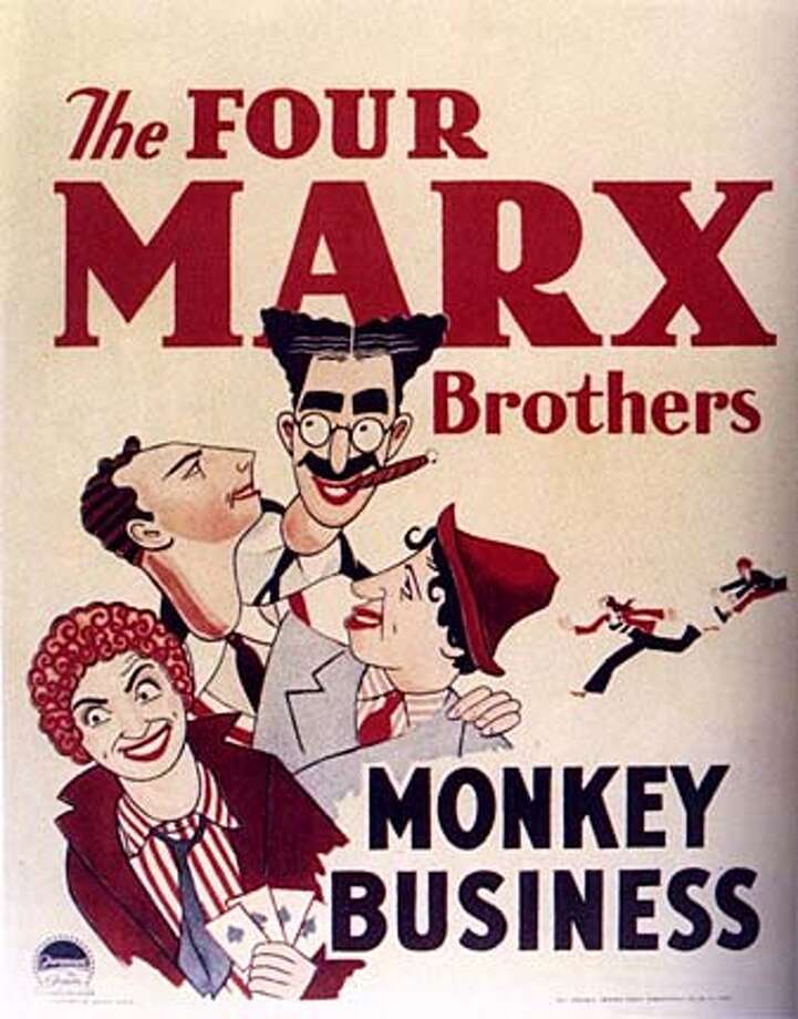 """Movie poster for """"Monkey Business."""" HO MANDATORY CREDIT FOR PHOTOG AND SF CHRONICLE/ -MAGS OUT Datebook#Datebook#SundayDateBook#11-14-2004#ALL#Advance##0422450189"""