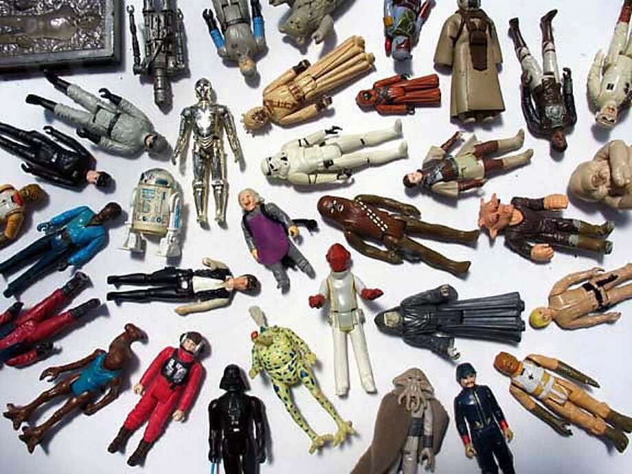 """""""Star Wars"""" action figures from the Delfin Vigil Collection."""