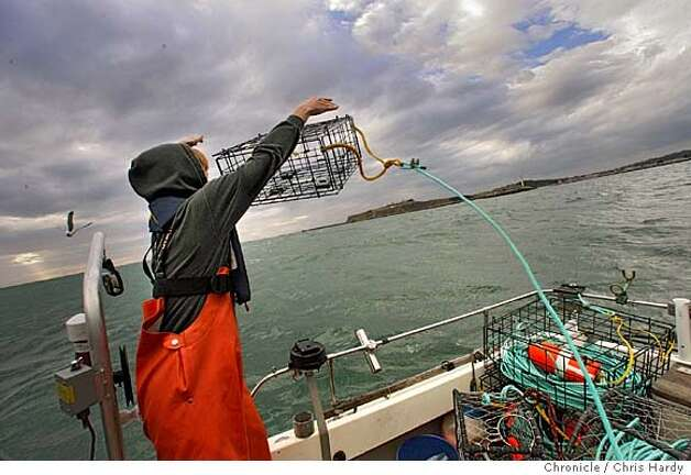 Pence, setting crab pots outside Pillar Point habor in Half Moon Bay