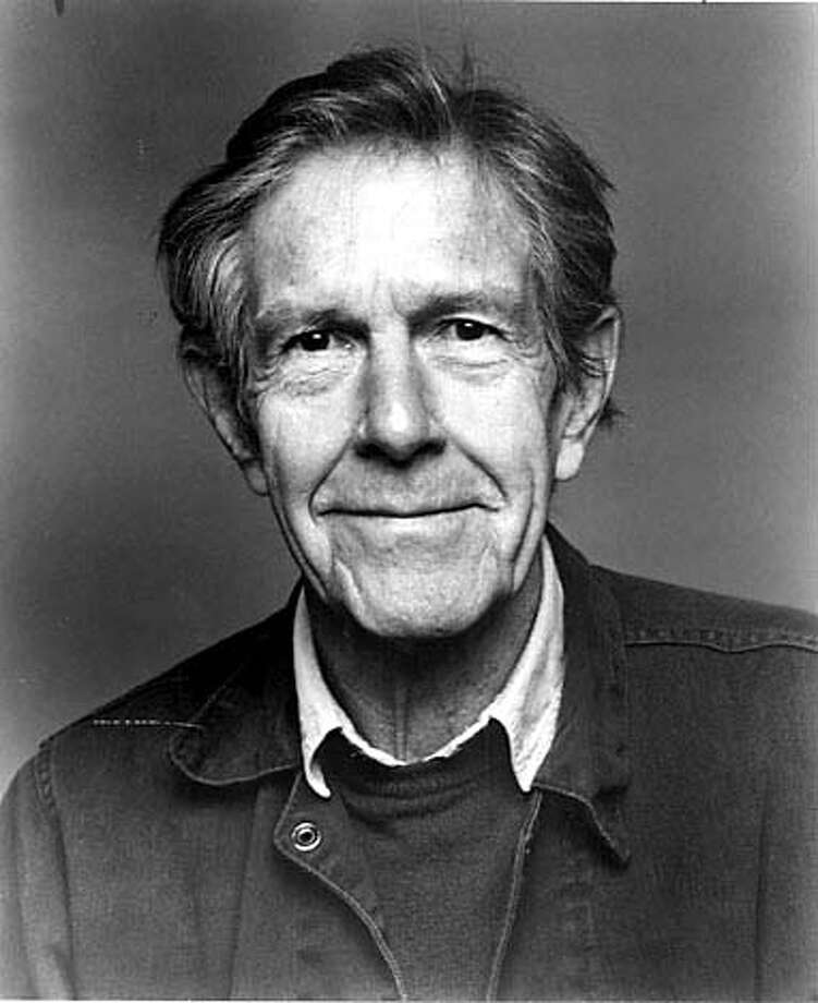"John Cage in 1989, the year he created ""75 Stones."""