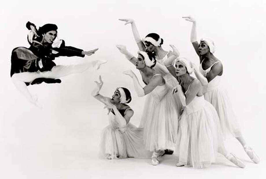 THIS IS A HANDOUT IMAGE. PLEASE VERIFY RIGHTS. STACK17D-C-15JAN02-DD-HO LES BALLETS TROCKADERO DE MONTE CARLO, INC. in the ballet SWAN LAKE Photo: HANDOUT