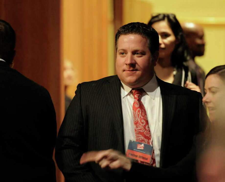 Albany County Executive Elect Dan McCoy arrives before the announcement of winners of the Regional Economic Development grants at the Empire State Plaza in Albany, N.Y. Dec. 8, 2011.    (Skip Dickstein / Times Union) Photo: SKIP DICKSTEIN / 2011