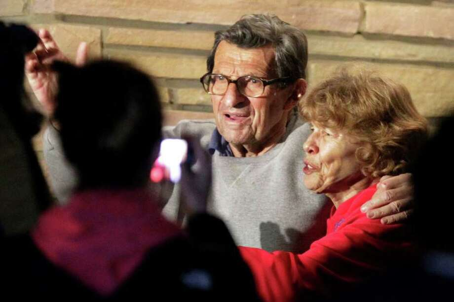 "Joe Paterno's wife, Sue, lashed out that he ""deserved better"" after his firing. Photo: AP"