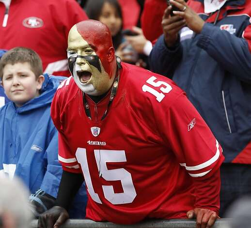 Javier Carbajal of Stockton cheers the 49ers as they take the field. The San Francisco 49ers played the New York Giants in the NFC Championship game at Candlestick Park in San Francisco, Calif., on Sunday, January 22, 2012. Photo: Brant Ward, The Chronicle
