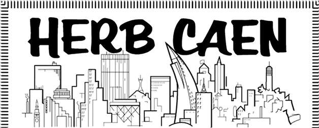 Herb Caen logo Photo: Chronicle Graphic