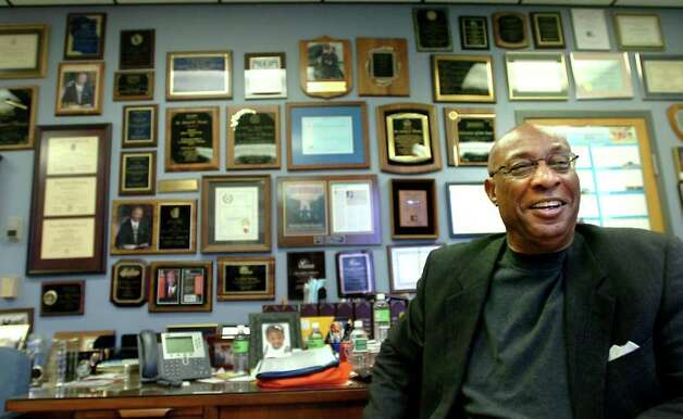 Dr. Carrol Thomas talks about his tenure at the Beaumont Independent School District at his office in Beaumont, Friday, January 20, 2012. Tammy McKinley/The Enterprise Photo: TAMMY MCKINLEY