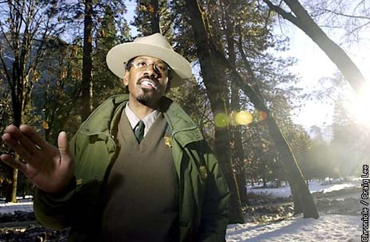 Yosemite Park Ranger, Shelton Johnson. For story about the history of black park rangers. Photo by Craig Lee/San Francisco Chronicle