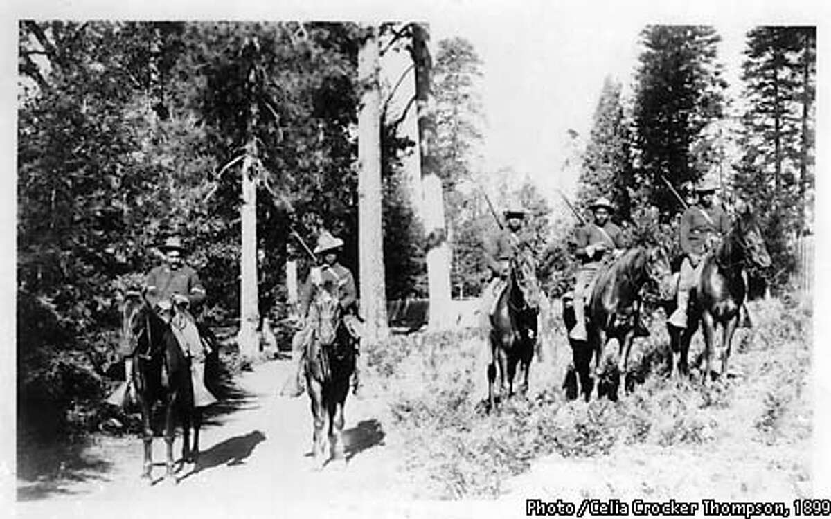 It was this 1899 Photo / Celia Crocker Thompson, 1899 that led Shelton Johnson to uncover a history that had been lost. HANDOUT from Deb Schweizer, Park Ranger, Media Relations, Photo / Yosemite National Park, (209) 372-0529. Permission given to use this photo.