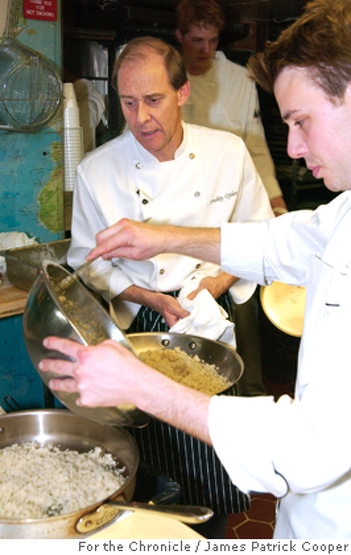 Chef Bradley Ogden prepares dinner at The James Beard Foundation House in New York on April25, 2005. Photo by James Patrick Cooper/For The Chronicle