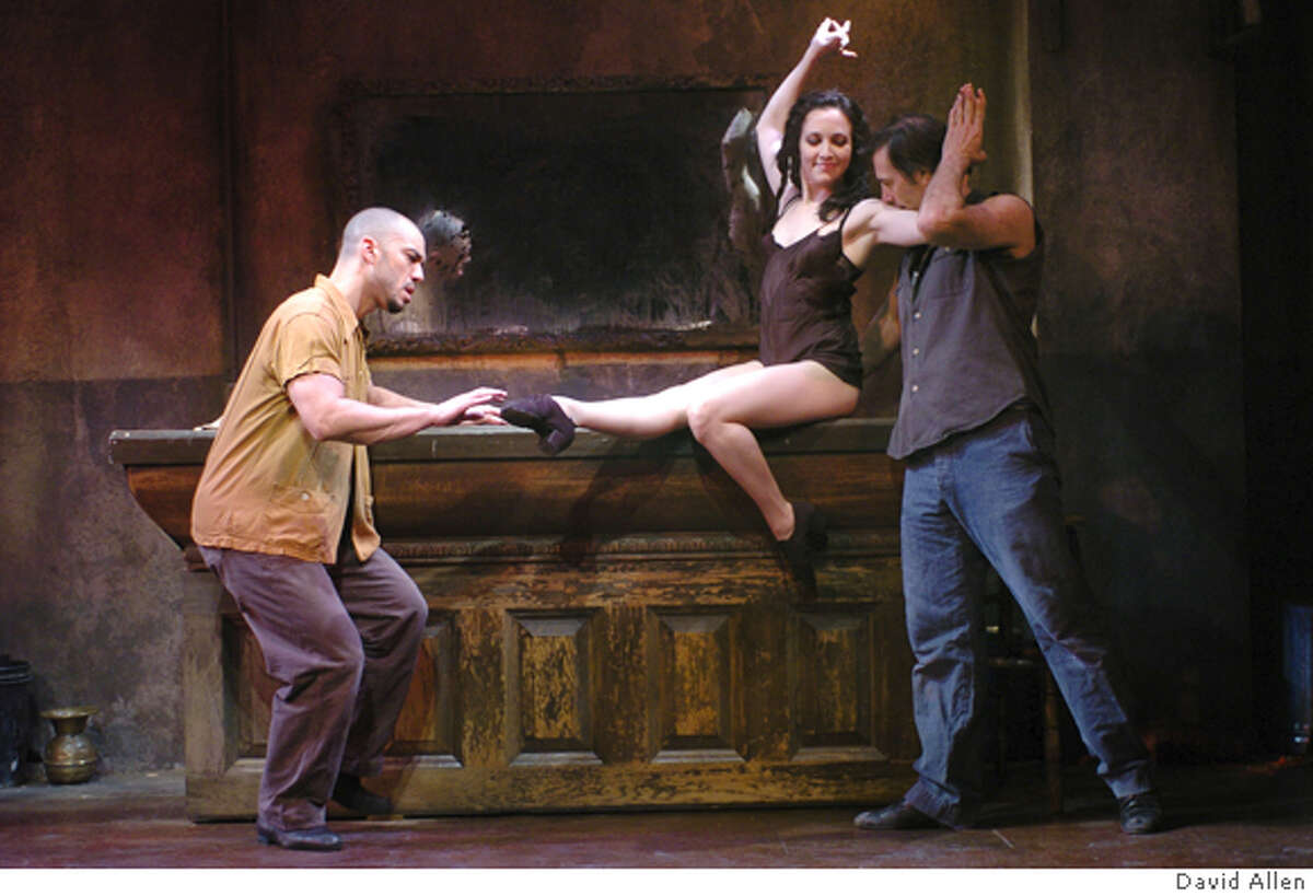JENNY05 (L to R) Dennis Stowe, Bebe Neuwirth and Angelo Fraboni in HERE LIES JENNY, the hit off-Broadway theatrical event featuring the music of Kurt Weill, now playing at San Francisco�s Post Street Theatre through Wednesday, May 25th. Photo Credit: David Allen� �2005
