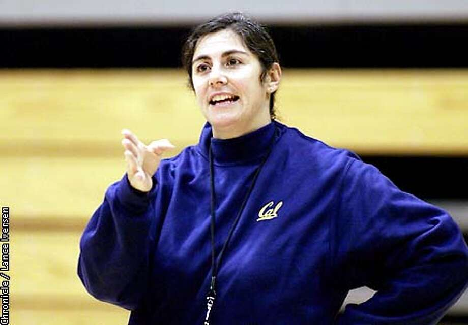 Cal's new head coach Caren Horstmeyer now in her first season from Santa Clara gives her team instructions during team practice. By LANCE IVERSEN/SAN FRANCISCO CHRONICLE Photo: LANCE IVERSEN