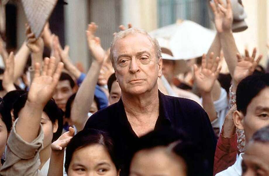 """Michael Caine in a scene from """"The Quiet American"""": He plays a British journalist in 1952 Vietnam."""