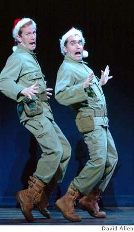 Jeffry Denman (Phil Davis) and Brian D�Arcy James (Bob Wallace) DAVID ALLEN / Best of Broadway - SF Datebook#Datebook#Chronicle#11/8/2004#ALL#Advance##0422452909 Photo: DAVID ALLEN