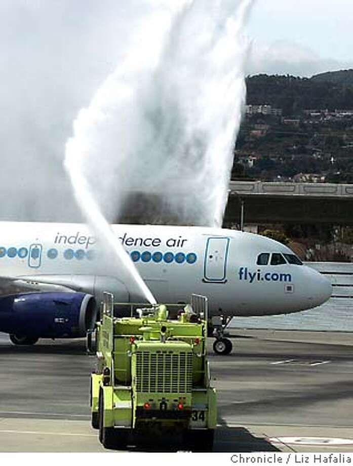 INDEPENDENCE04_007_LH.JPG Independence Air, a low-cost carrier based in Virginia, is launching twice a day service from San Francisco International Airport to Washington airport. Shot in Millbrae on 5/3/05. Creditted to San Francisco Chronicle/Liz Hafalia Photo: Liz Hafalia
