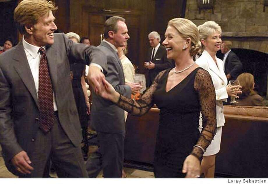 SUNDANCE20.jpg  Left to Right: Robert Redford and Helen Mirren in The Clearing. Photo Credit: Lorey Sebastian Ran on: 06-27-2004  Robert Redford and Helen Mirren star in &quo;The Clearing,&quo; opening Friday at the Embarcadero Center Cinema. Datebook#Datebook#Chronicle#11/9/2004#ALL#Advance##0421555439