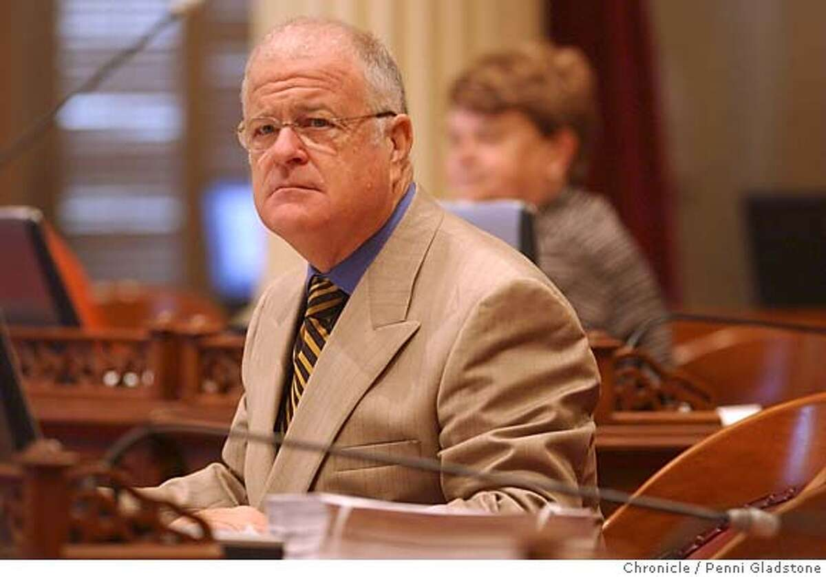 Oakland senator Don Perata. WHO WIL SUCCEED JOHN BURTON as senate pres. pro tem. 8/10/04 in Sacramento. Penni Gladstone / The Chronicle