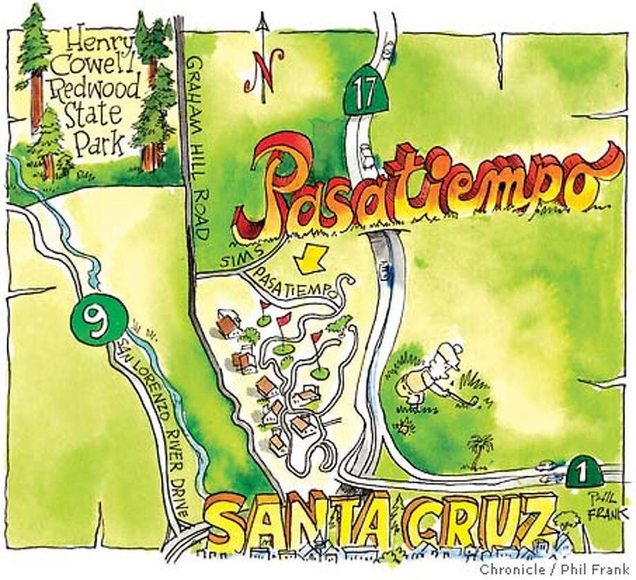 Pasatiempo Golf Course. Chronicle illustration by Phil Frank