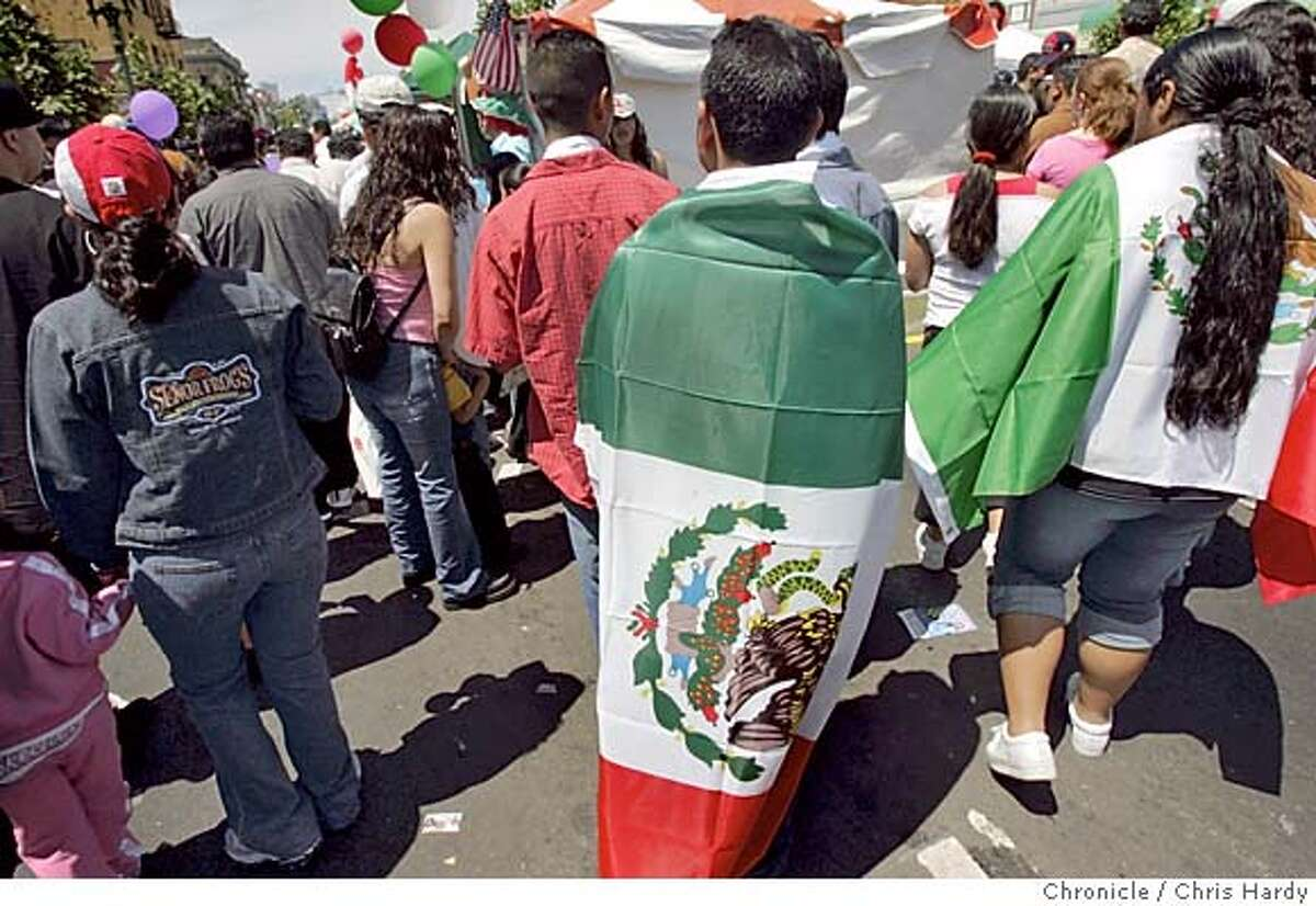 Cinco de Mayo festival in Oakland, the largest of several East Bay celebrations honoring the Mexican holiday. in Oakland 5/1/05 Chris Hardy / San Francisco Chronicle